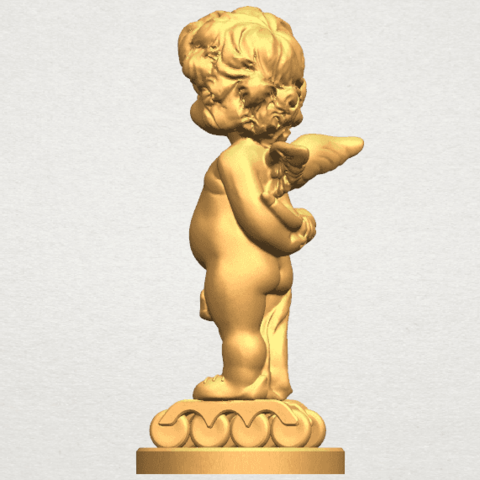 TDA0478 Angel Baby 01 A03.png Download free STL file Angel Baby 01 • 3D print template, GeorgesNikkei