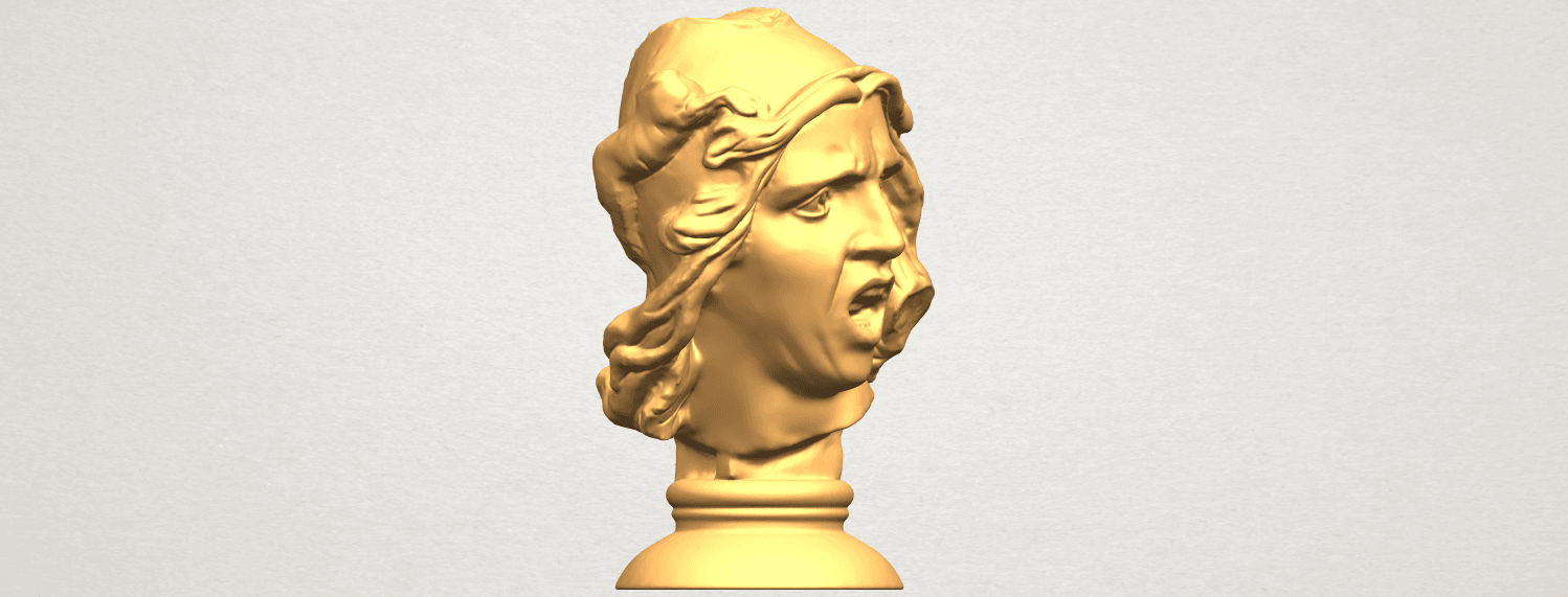 A10.png Download free STL file Bust of Shock • 3D print object, GeorgesNikkei