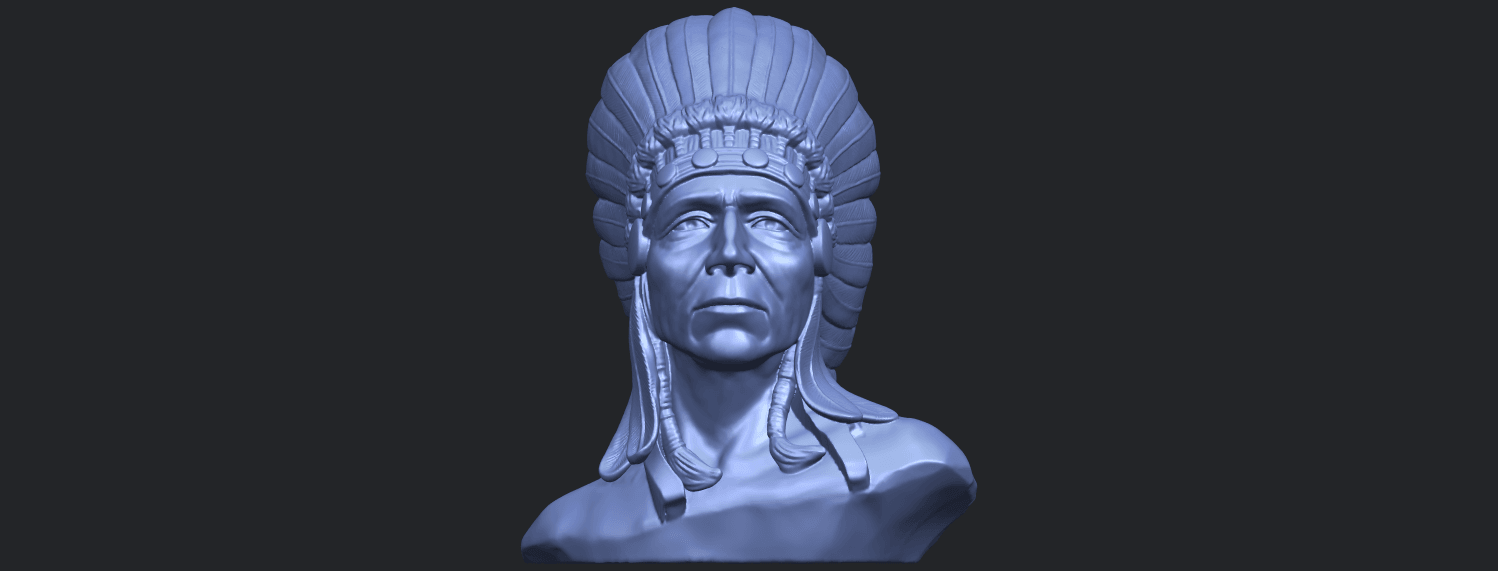 09_TDA0489_Red_Indian_03_BustB01.png Download free STL file Red Indian 03 • 3D printer model, GeorgesNikkei