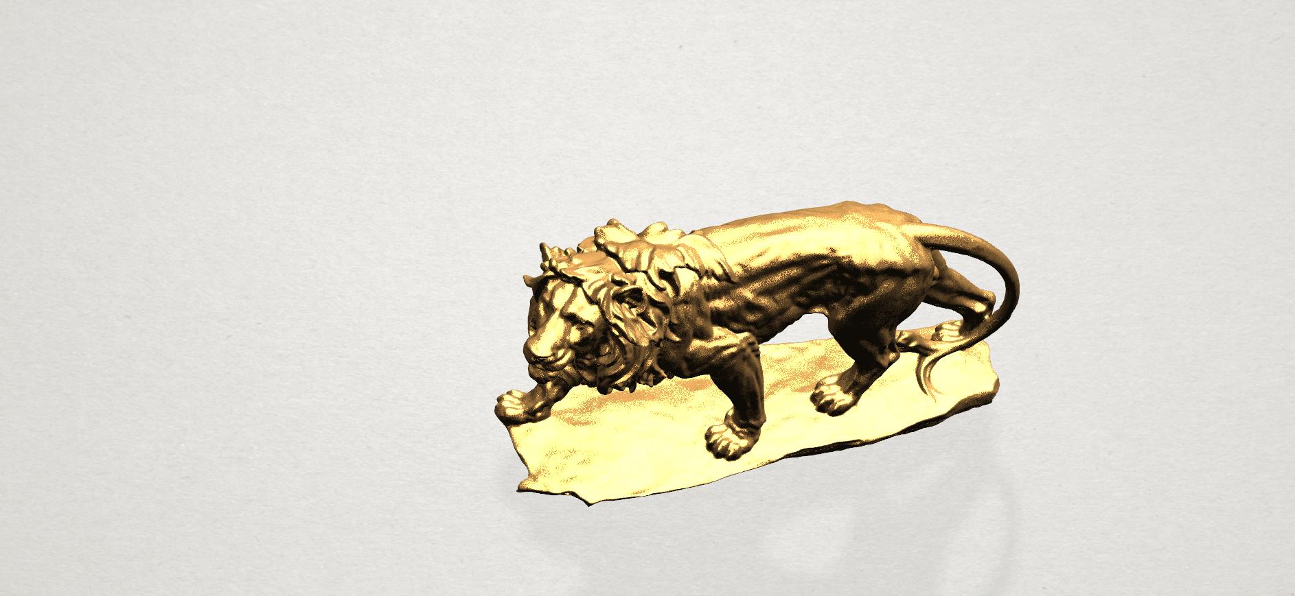 Lion (ii) -50mm-B06.png Télécharger fichier STL gratuit Lion 02 • Design pour impression 3D, GeorgesNikkei