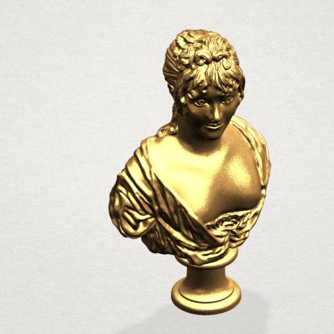 Bust of a girl 01 A08.png Télécharger fichier STL gratuit Buste d'une fille 01 • Modèle à imprimer en 3D, GeorgesNikkei