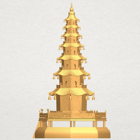 TDA0623 Chiness pagoda A03.png Download free STL file Chiness pagoda • Design to 3D print, GeorgesNikkei