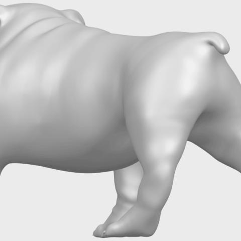 14_TDA0520_Bull_Dog_01A05.png Télécharger fichier STL gratuit Chien de taureau 01 • Plan pour impression 3D, GeorgesNikkei