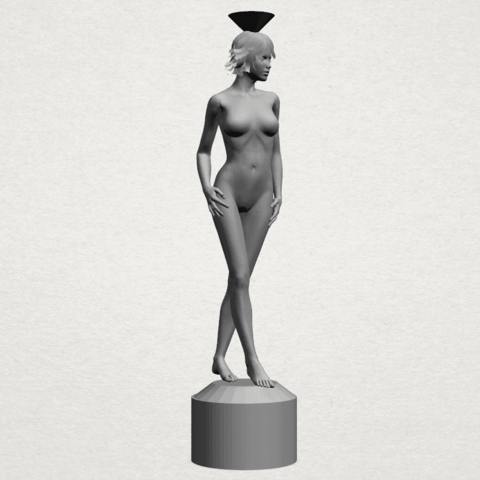 Naked girl-vase-A01.png Download free STL file Naked Girl with Vase on Top (i) • 3D print template, GeorgesNikkei
