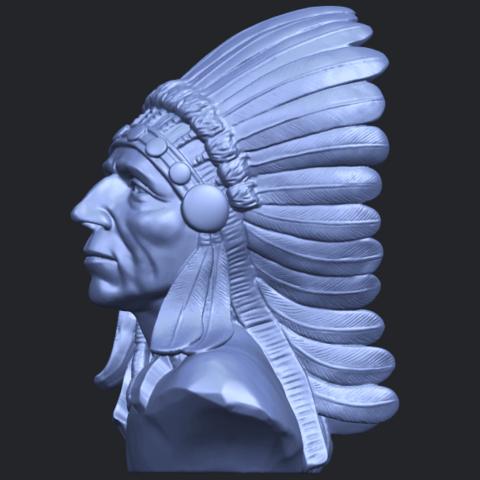 09_TDA0489_Red_Indian_03_BustB03.png Télécharger fichier STL gratuit Rouge Indien 03 • Objet pour impression 3D, GeorgesNikkei