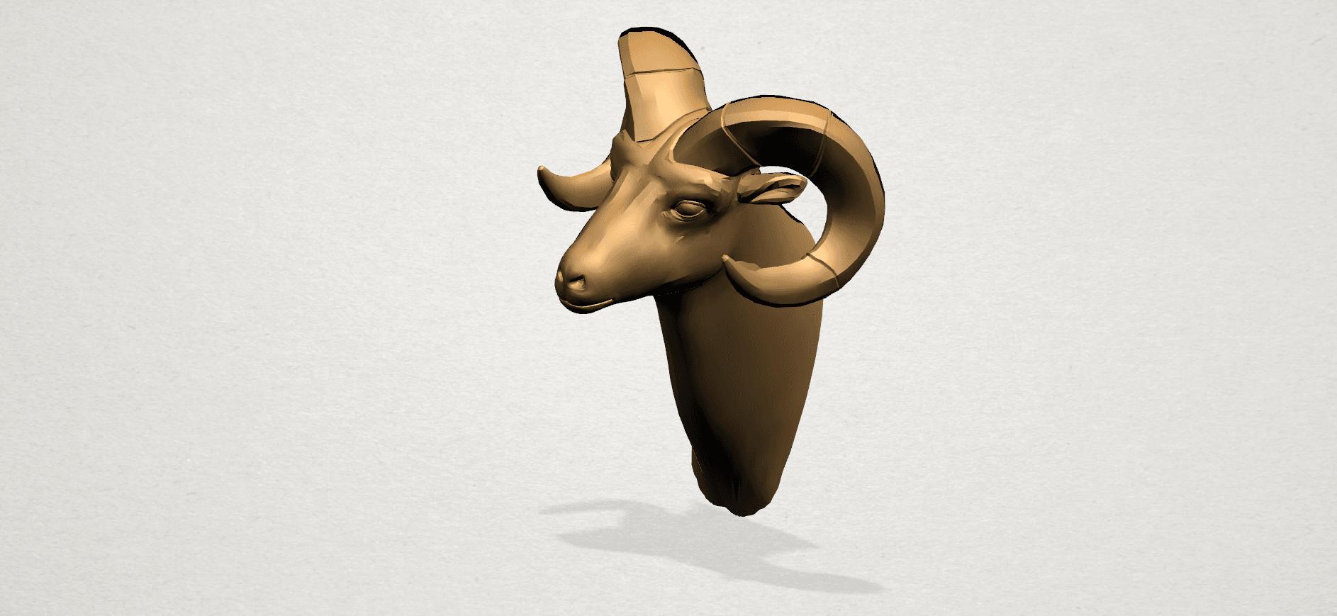Goat - B01.png Télécharger fichier STL gratuit Chèvre 01 • Design pour impression 3D, GeorgesNikkei