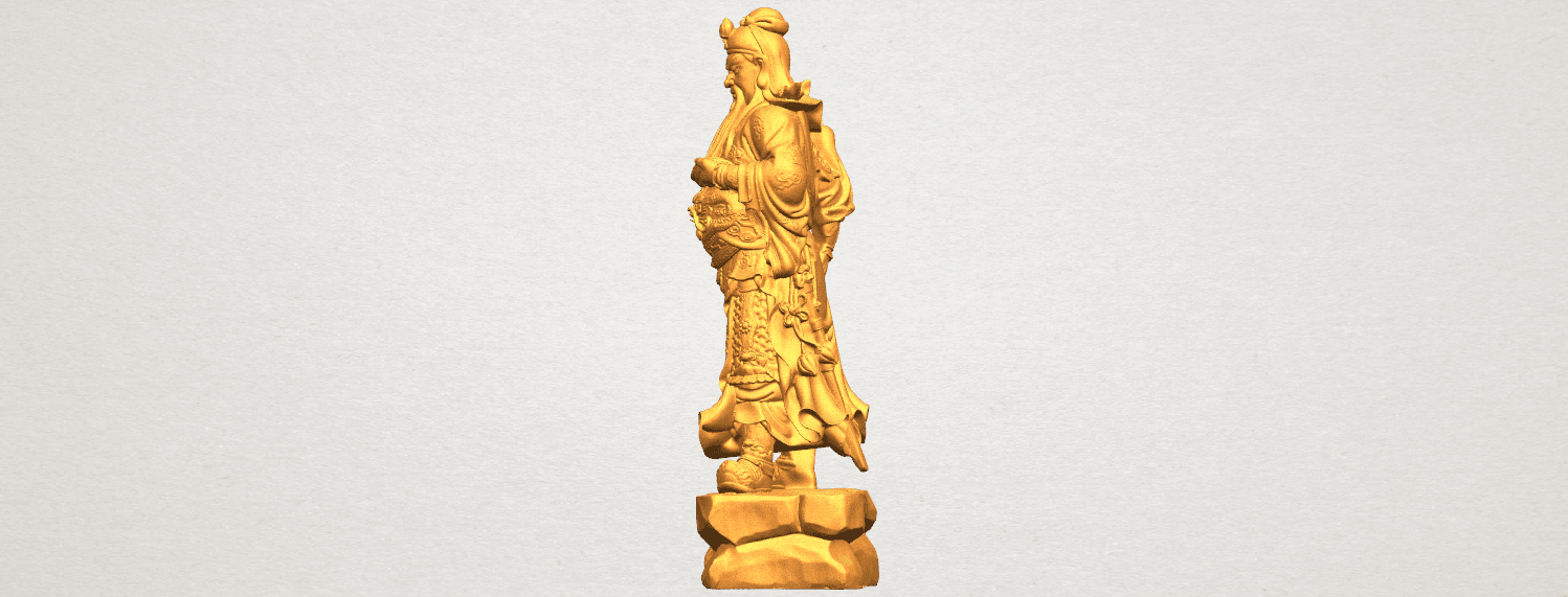 TDA0330 Guan Gong (iii) A03.png Download free STL file Guan Gong 03 • 3D printable template, GeorgesNikkei