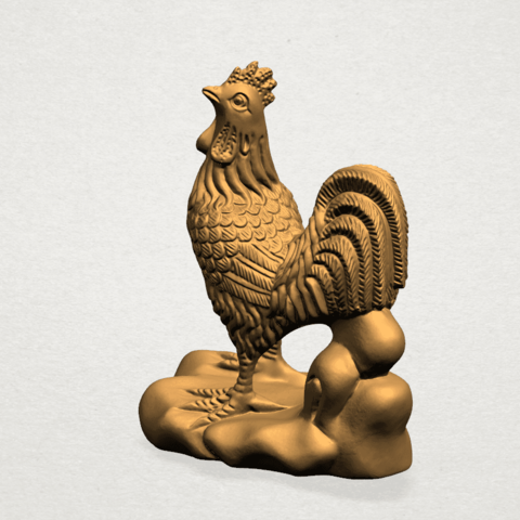 TDA0051j Chinese Horoscope10-A02.png Download free STL file Chinese Horoscope 10 Chicken - TOP MODEL • 3D printable design, GeorgesNikkei