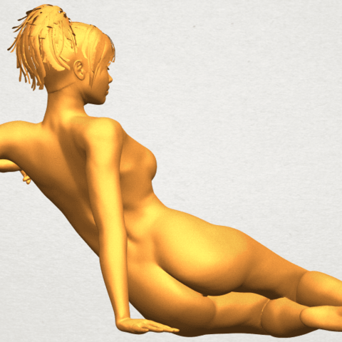 A08.png Download free STL file Naked Girl F01 • 3D printing template, GeorgesNikkei