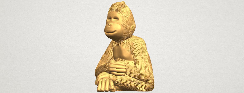 TDA0606 Chimpanzee A02.png Télécharger fichier STL gratuit Chimpanzé • Design imprimable en 3D, GeorgesNikkei