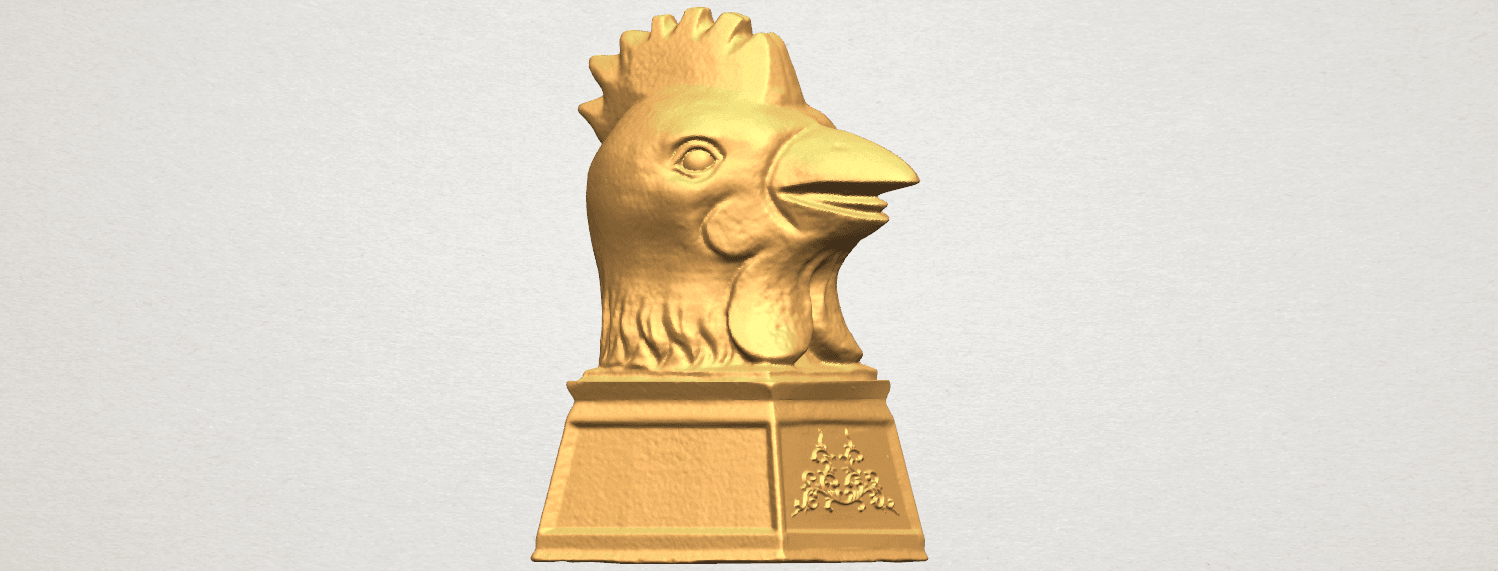TDA0517 Chinese Horoscope of Rooster 02 A06.png Download free STL file Chinese Horoscope of Rooster 02 • 3D printable object, GeorgesNikkei