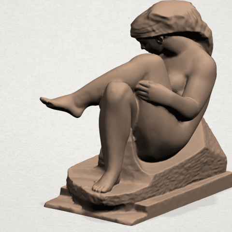 Naked Girl (xiii) A03.png Download free STL file Naked Girl 13 • 3D print design, GeorgesNikkei