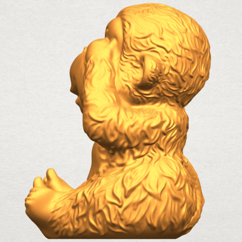 A04.png Download free STL file Monkey A03 • 3D printable model, GeorgesNikkei