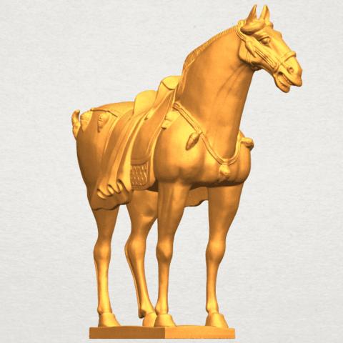 A08.png Télécharger fichier STL gratuit Cheval 08 • Plan à imprimer en 3D, GeorgesNikkei