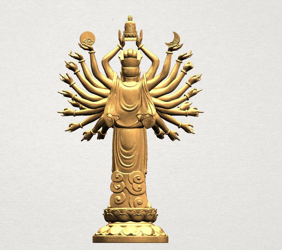 Avalokitesvara Bodhisattva (multi hand) 80mm -B06.png Download free STL file Avalokitesvara Bodhisattva (multi hand) (i) • 3D print object, GeorgesNikkei
