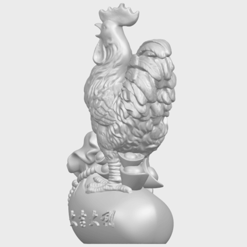 08_TDA0321_CockA03.png Télécharger fichier STL gratuit Coq 01 • Design pour impression 3D, GeorgesNikkei