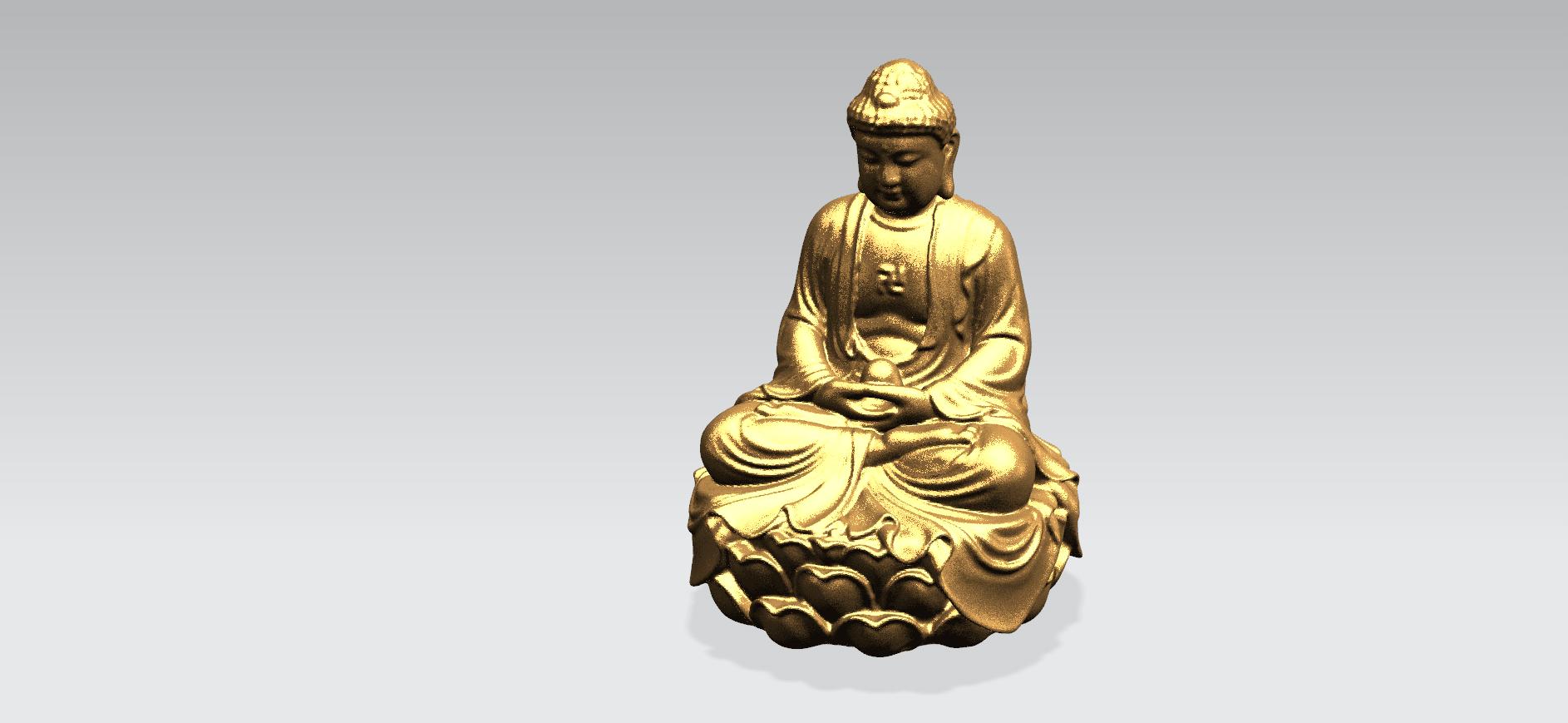 Gautama Buddha -B05.png Télécharger fichier STL gratuit Gautama Bouddha 01 • Plan pour impression 3D, GeorgesNikkei