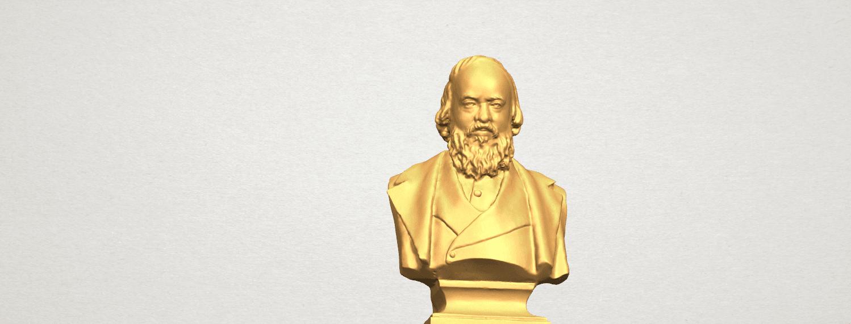 TDA0621 Sculpture of a head of man 03 A07.png Télécharger fichier STL gratuit Sculpture d'une tête d'homme 03 • Plan pour impression 3D, GeorgesNikkei