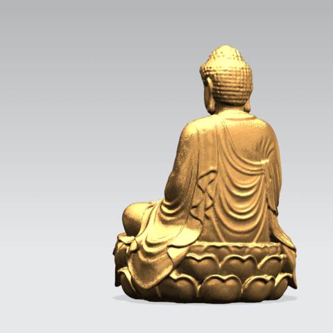 Gautama Buddha -B03.png Télécharger fichier STL gratuit Gautama Bouddha 01 • Plan pour impression 3D, GeorgesNikkei