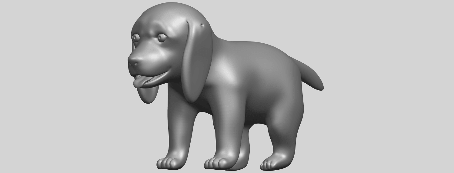 15_TDA0533_Puppy_01A05.png Download free STL file Puppy 01 • 3D printer template, GeorgesNikkei