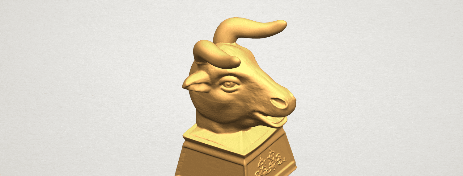 TDA0509 Chinese Horoscope of Bull 02 A07.png Download free STL file Chinese Horoscope of Bull 02 • 3D printing design, GeorgesNikkei