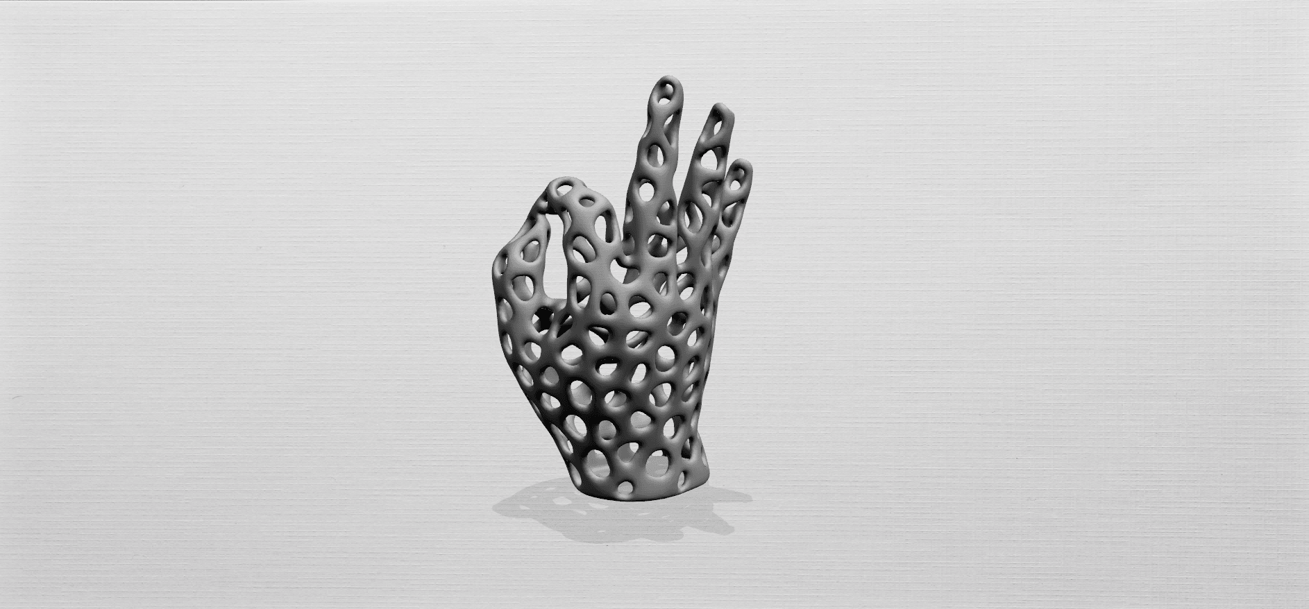 Voronoi Hand-A02.png Download free STL file Voronoi Hand • Object to 3D print, GeorgesNikkei