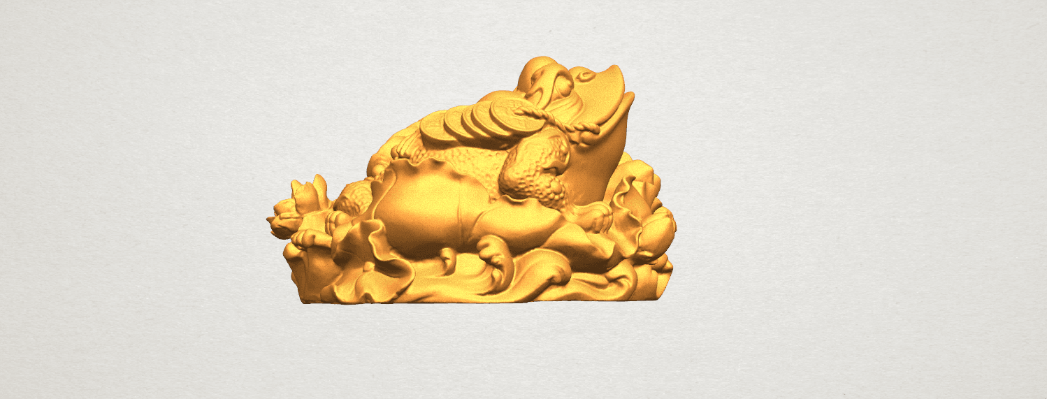 TDA0336 The Golden Toad A04.png Download free STL file The Golden Toad • 3D printer design, GeorgesNikkei