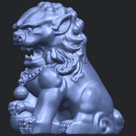 04_TDA0500_Chinese_LionB03.png Download free STL file Chinese Lion • 3D printing object, GeorgesNikkei