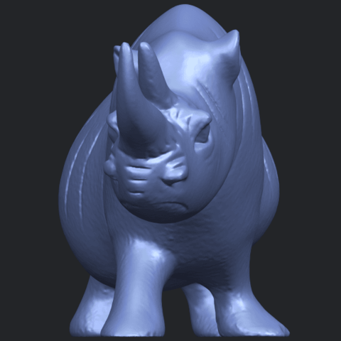 TDA0310_Rhinoceros_iiB09.png Download free STL file Rhinoceros 02 • 3D printing model, GeorgesNikkei