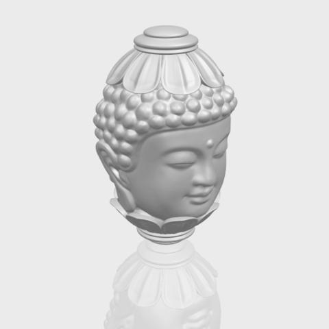 11_Buddha_Head_Sculpture_80mmA00-1.png Download free STL file Buddha - Head Sculpture • 3D printing model, GeorgesNikkei