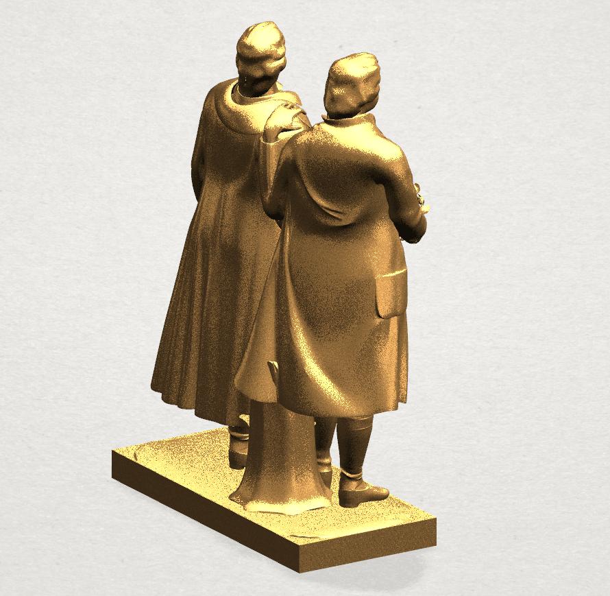 Goethe schiller 80mm - A04.png Télécharger fichier STL gratuit Goethe Schiller • Modèle imprimable en 3D, GeorgesNikkei