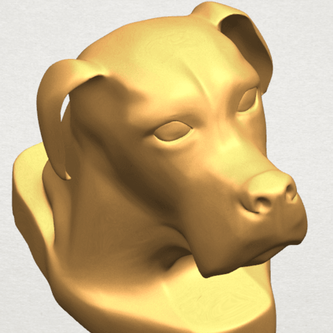 TDA0535 Dog Head A10.png Download free STL file Dog Head • Model to 3D print, GeorgesNikkei