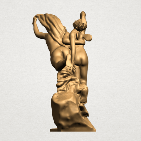 Cupid and Psyche - A03.png Download free STL file Cupid and Psyche • 3D printing template, GeorgesNikkei