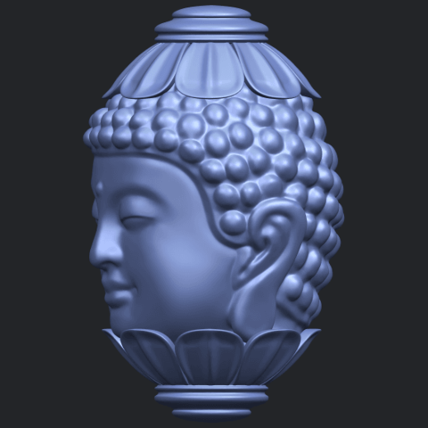 11_Buddha_Head_Sculpture_80mmB03.png Download free STL file Buddha - Head Sculpture • 3D printing model, GeorgesNikkei