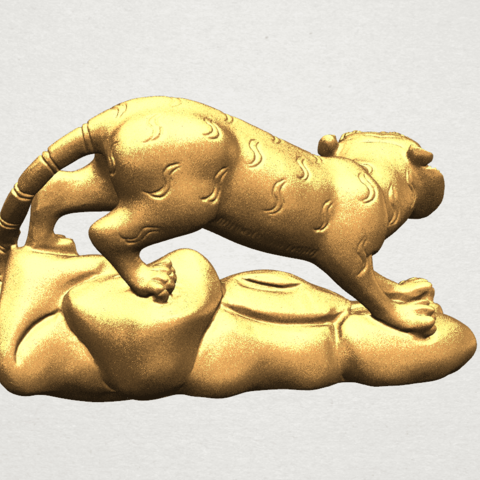 Chinese Horoscope03-02.png Download free STL file Chinese Horoscope 03 Tiger • 3D printer template, GeorgesNikkei