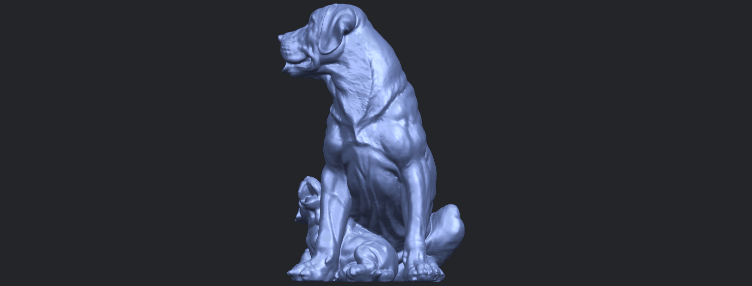 02_TDA0526_Dog_and_PuppyB06.png Download free STL file Dog and Puppy 01 • Model to 3D print, GeorgesNikkei
