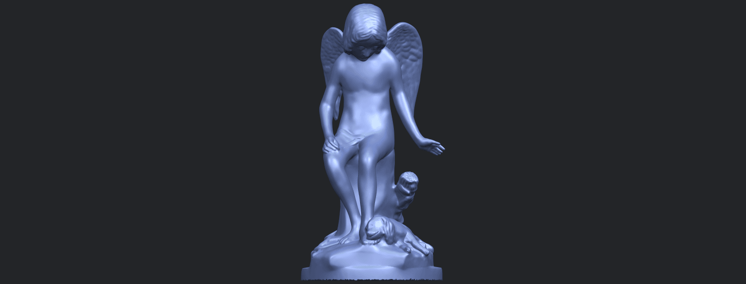 05_Angel_and_Dog_80mmB01.png Download free STL file Angel and Dog • 3D print model, GeorgesNikkei