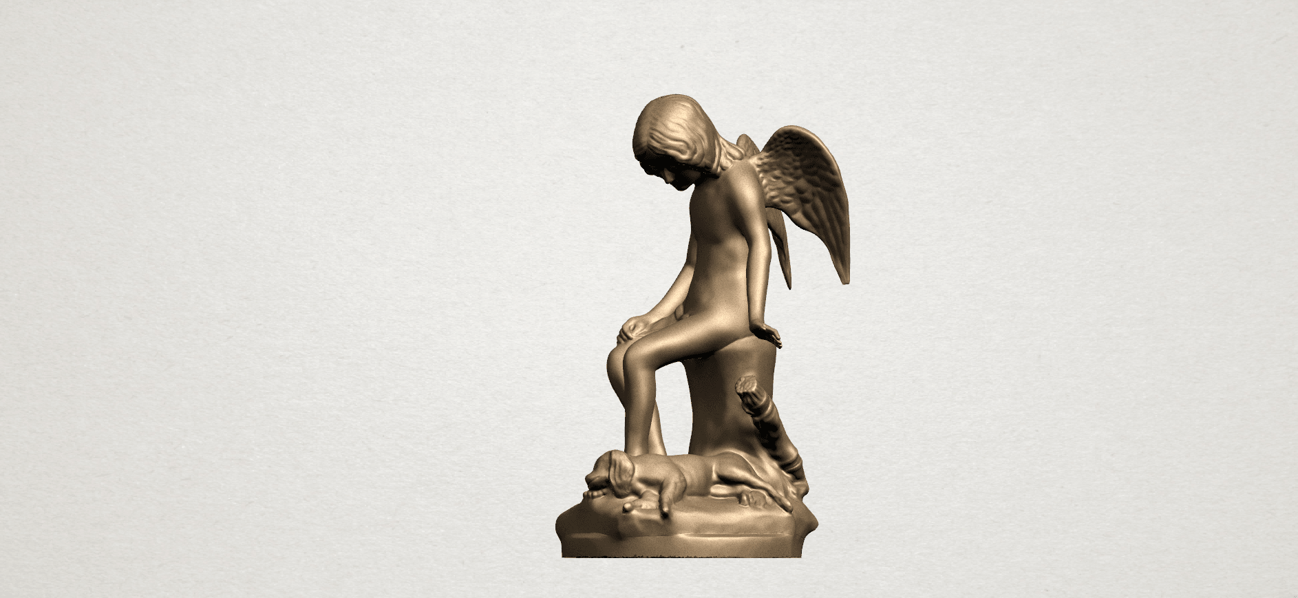 Angel and Dog A02.png Download free STL file Angel and Dog • 3D print model, GeorgesNikkei