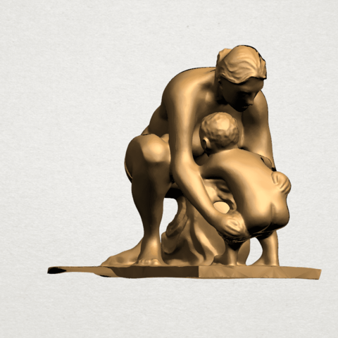 Mother-Child (iv) A06.png Download free STL file Mother and Child 04 • 3D print template, GeorgesNikkei
