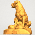 A01.png Download free STL file Dog and Puppy 02 • 3D print design, GeorgesNikkei