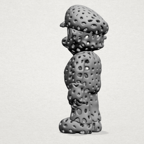 Mario-A03.png Download free STL file Voronoi Mario • Model to 3D print, GeorgesNikkei
