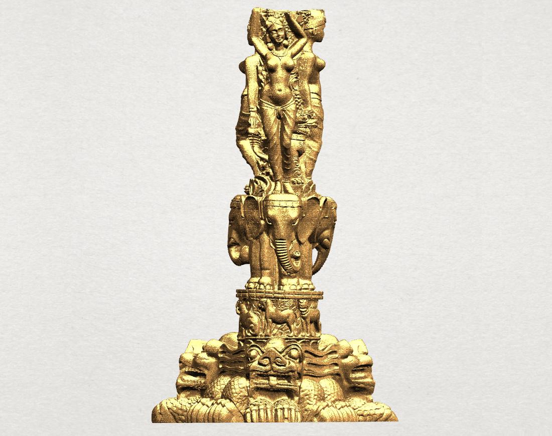 Thai Elephant Tower 80mm - A00.png Télécharger fichier STL gratuit Tour de l'éléphant thaïlandais • Modèle pour impression 3D, GeorgesNikkei
