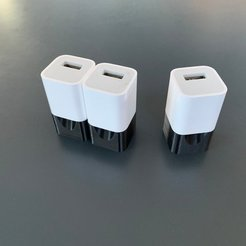 Free 3D printer designs US iPhone Charger Plug, Greystone
