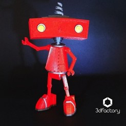 Download STL Bad Robot 3dPrintable 3dFactory Brasil, 3dFactoryBrasil