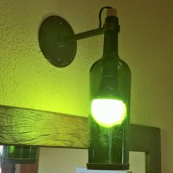 diseños 3d gratis botella de luminaria a base de vino, D4niel