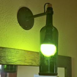 Objeto 3D botella de luminaria a base de vino gratis, D4niel