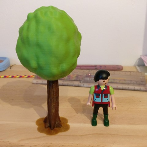 Download free 3D print files Tree for Playmobil, Flintstones
