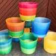 Download free STL file Flowerpot stackable • 3D printing template, AH727