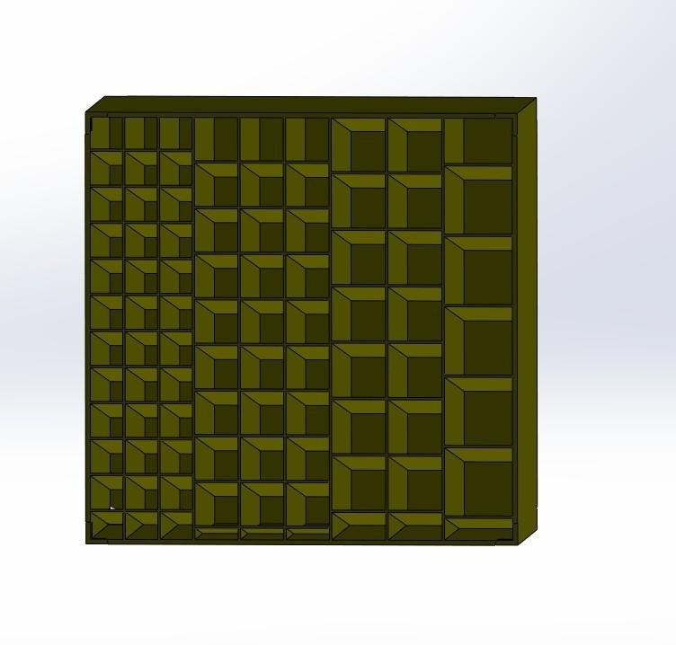 Box Nr4.jpg Download free STL file Box number 4, plug-in rack, set of boxes, ordering system • 3D print model, AH727
