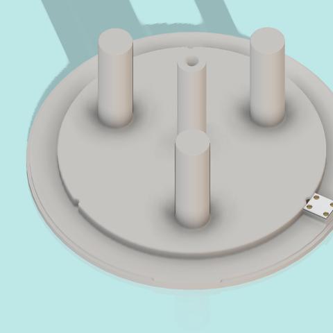 base papier 3.png Télécharger fichier STL gratuit Distributeur triple pour papier toilette • Design à imprimer en 3D, als